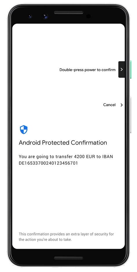 Android Protected Confirmation - zcela jiná úroveň