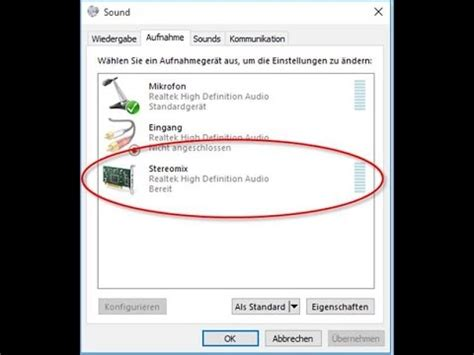 Stereomix in Windows 10 Re-Activate Recording Device - YouTube