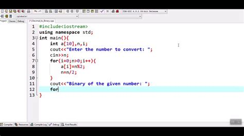 How to convert decimal number to binary number in c++