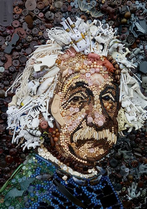 Artist Re-Creates Iconic Portraits With Thousands of Found