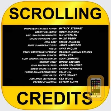 Scrolling Credits for iPhone & iPad - App Info & Stats