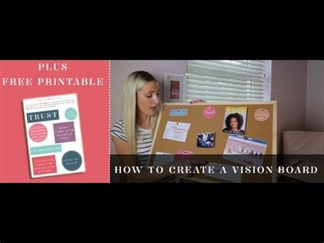 How to create a vision board - YouTube
