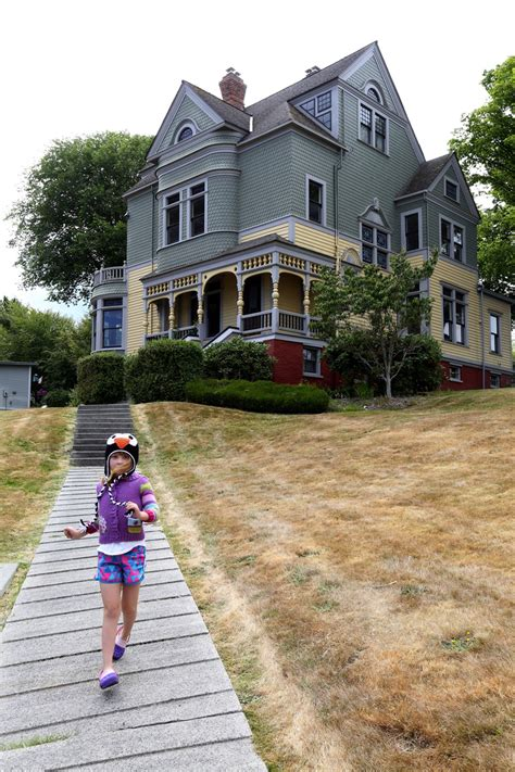 Slow down in Port Gamble, a New England village in